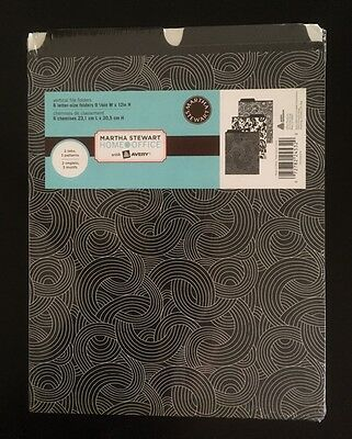 Martha Stewart Home Office with Avery Vertical File Folders NEW! Six Folders