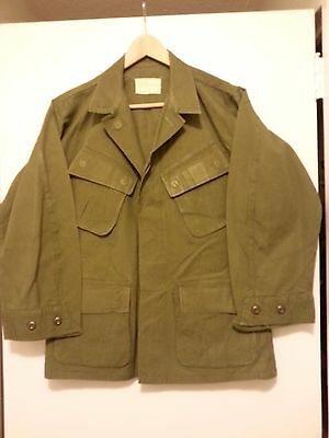 Vietnam war era slant pocket tropical jacket size S/S