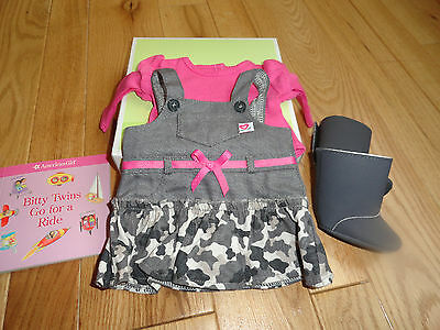 American Girl Bitty Baby Twin Girl Camo Jumper Outfit  New In Box  Retired