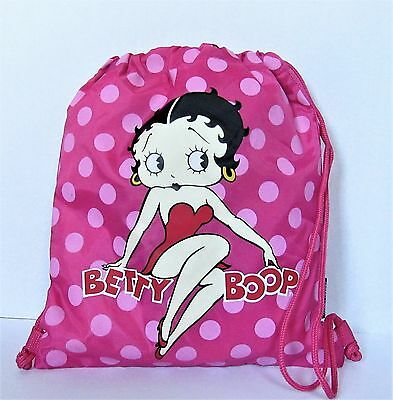 Amazing Betty Boop Pink  String Back Pack !!!