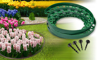 Plastic garden edging,New green edging 10meters for borders,paths,lawn+60 pegs