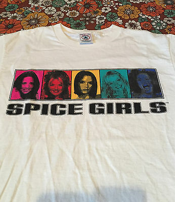VTG 90s Spice Girls T Shirt Youth L Adult S Tour Concert World Ginger Posh Baby