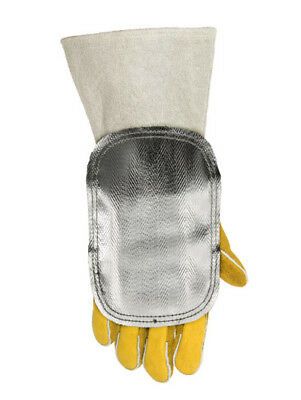 WELDAS High Heat Reflective Aluminized Handshield with Leather Back HIGH QUALITY