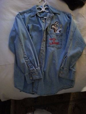 Wile E Coyote - Denim Shirt - Vintage Collectible But Brand New Well Stored