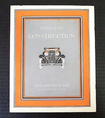 "1930 OLDSMOBILE SIX ~ ""DETAILS OF CONSTRUCTION"" BOOKLET ~ 15"" x 10"" ~20 PGS~C26"