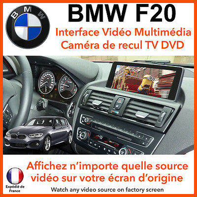 BMW F20 Série 1 (2012 - 2015) interface vidéo multimédia TV DVD camera de recul