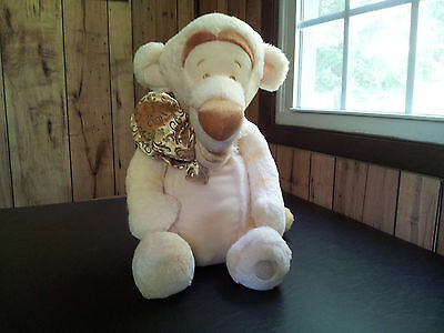 Disney Store Winnie The Pooh Tiger Special Edition White & Gold Plush Toy