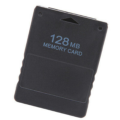 Sony Playstation 2 Console PS2 Memory Card Saved Game Data Black 128MB 128 MB