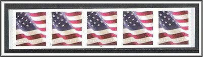 US #5159 (APU) Flag Plate # Coil Strip of 5 MNH