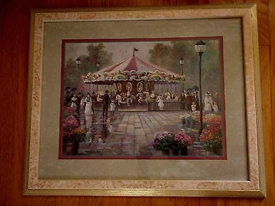 Home Interior large picture by Betty Hebert w children ridding Merry go round