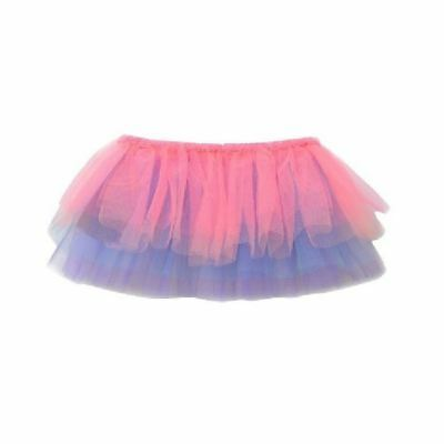 Girls Tutu Skirt Freestyle By Danskin Multi-Colored XS-SM (4 / 6X) Pink Blue New