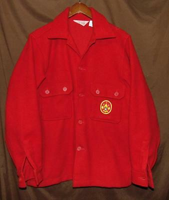 Boy Scouts BSA Men's 40 Made In USA 85% Wool/15% Nylon BF Red Shirt/Jacket! VTG!