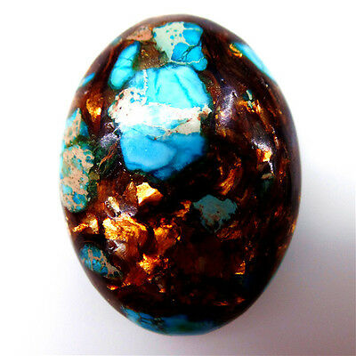 1Pcs Sea Sediment Jasper & Gold Copper Bornite stone CAB CABOCHON 40*30*6mm M755