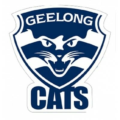 Geelong Cats Logo Static Cling Car Decal Sticker Official AFL