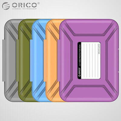 "ORICO 5PCS 3.5"" Inch Hard Drive Disk Protective Case HDD Storage Protection Box"