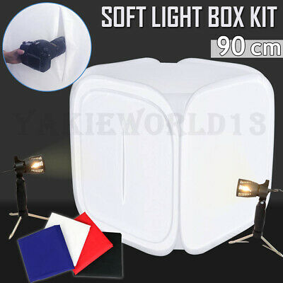 LARGE 80CM Photography Studio Soft Box Tent Light Cube Softbox Lighting Kit +BAG