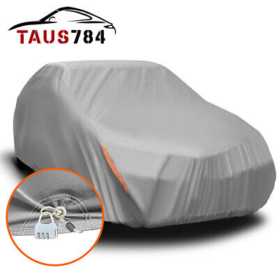 Full Car Cover Waterproof Sun UV Snow Rain Resistant All Weather Protection US