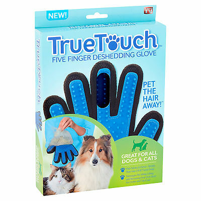 True Touch Deshedding Glove  Pet Dog Grooming As Seen On TV
