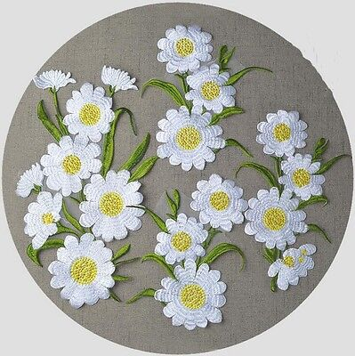 Large Daisy Flower Venice Applique Patch Embroidered Dress Motif Sewing Iron On