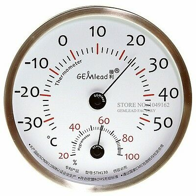 Indoor Outdoor 130MM Thermometer Hygrometer stainless steel high accuracy