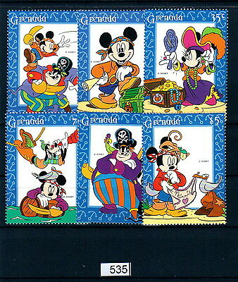 X0 Disney 535 Grenada SC# 2480-2485 High sea adventure MNH
