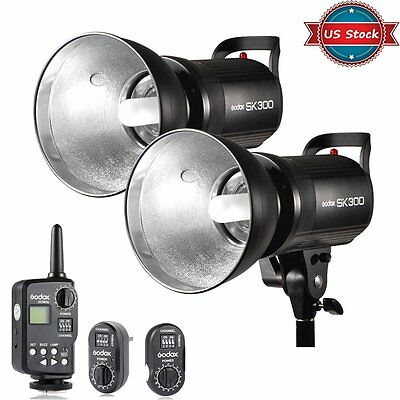 2X Godox 600W GN58 Studio Strobe Flash Light Head + FT-16 Wireless Trigger Kit