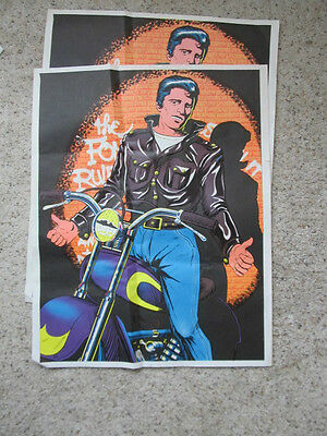 The Fonz - Poster  23 X 29 - Vintage Tv Star Henry Winkler - Black Light / Psych