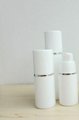 LOT OF 50 EMPTY AIRLESS LOTION BOTTLES - 30 ML / 1OZ item no 43