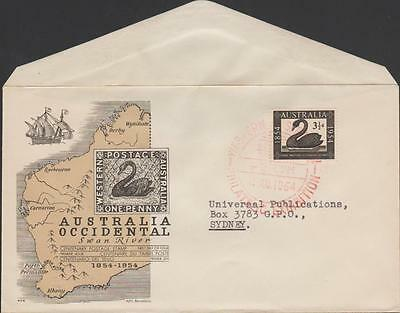 AUSTRALIA - 1954 West Aust Centenary first day cover by Alfil Barcelona. Scarce