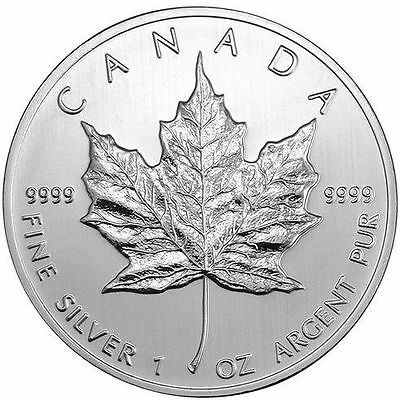 2010 Canadian Silver Maple Leaf. One Ounce .9999 Fine Silver