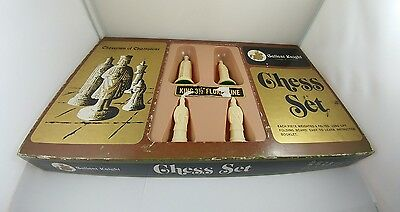 Gallant Knight Chessmen Of Champions--Vintage Chess Set, Complete In Box.