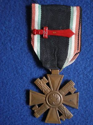 Italy: Cross of Seniority of the MSVN with Red Sword Ribbon Device.