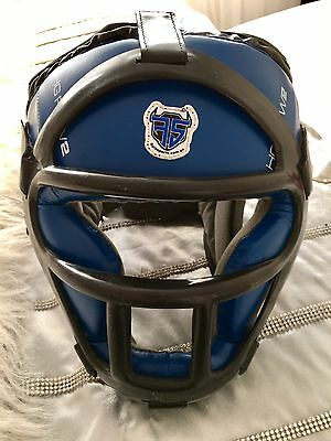 Flaresports Kung Martial Kick Boxing Sports Leather Head Guard Removable Grill