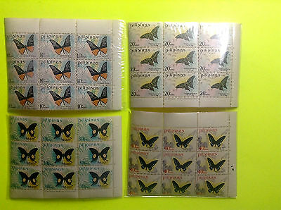 Philippines Stamp 1969 Butterfly Issue S/c 1031-1034 B/9  Og Mnh