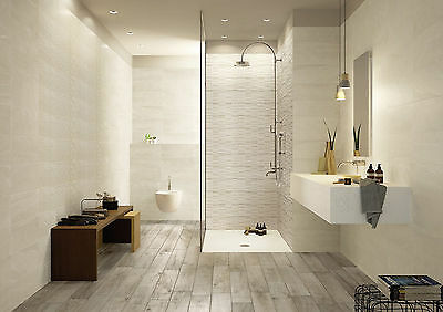 Italian Ceramic Wall Tile 200x500 - Marazzi Interiors Bone