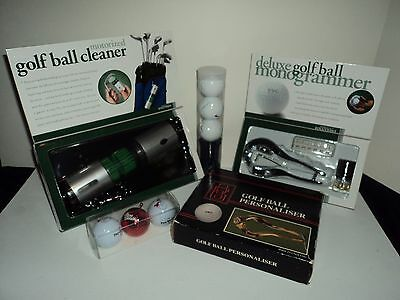 Lot of Golf accessories: Nike Balls, Ball cleaner,2 ball personaliser & more !!