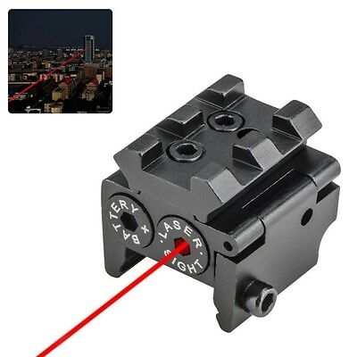 Mini Tactical Compact Pistol Low Profile Rifle Navigation Red Laser Dot Sight