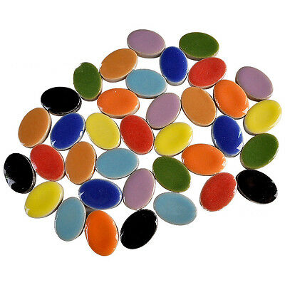 100g Ovals Mosaic Tiles Ceramic Art & Craft Supplies DIY Kitchen Wall Scrapbook