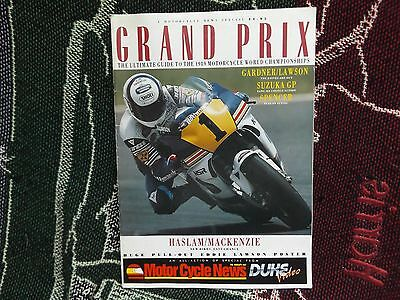Grand Prix - 1989 Motorcycle World Championship Guide - Mcn Publication