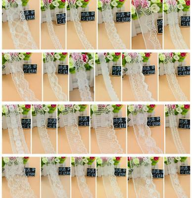 32 STYLE Vintage White net Lace Edge Trim Bridal Wedding Ribbon Sewing Craft DIY