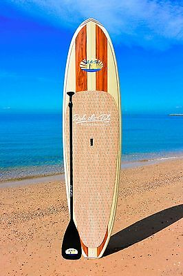 10' RIDE THE TIDE SUP WOODY LEHINA Stand Up Paddle Board + ADJUSTABLE Paddle