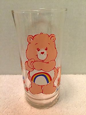 1983 Pizza Hut Care Bears Cheer Bear Limited Edition Collectors Glass EXCELLENT