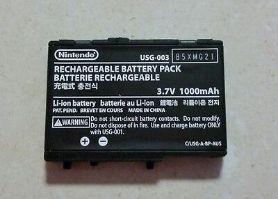 GENUINE NINTENDO DS BATTERY 3.7v 1000mAh USG-003