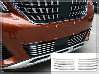 10pcs Front L&R Grille Grill Protector Cover Trim For Peugeot 3008 GT 2016 2017