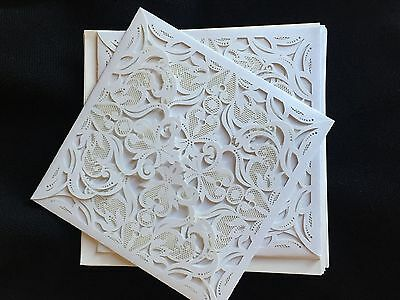 1PCS Sample White Laser Cut out Personalized Wedding Invitations Cards