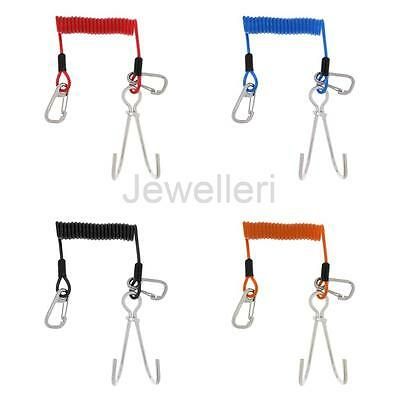 "Scuba Diving Dive 5"" 13cm Reef Hook & 59"" Spiral Lanyard Safety Emergency Gear"