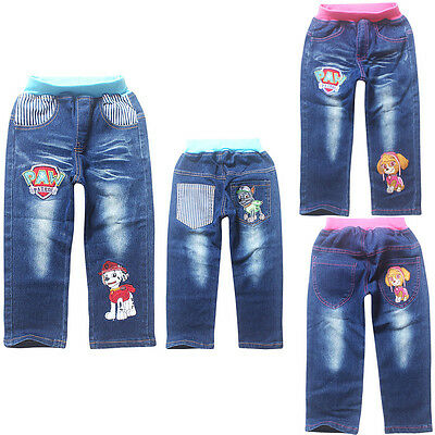 Kids Paw Patrol Jeans Bottom Pants Costume Clothes Trousers 474