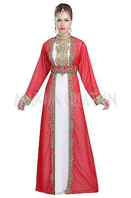 a5878fb970 Moroccan Party Wear Evening Dress Tunisian Cultural Walima Gown Maxi Dress  5967