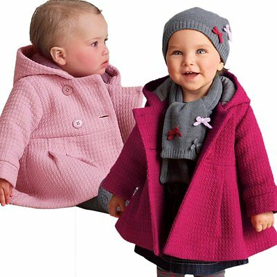 Vogue Winter Coat Toddler Girl Kid Baby Baby Button Hooded Jacket Outerwear 0-3Y