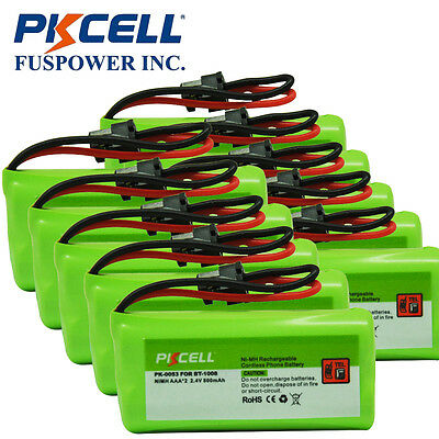 Promotion 10x Ni-MH AAA*2 Cordless Phone Battery 800mAh 2.4V for Uniden BT-1008